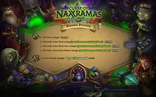 Hearthstone's Naxxramas will cost $24.99 to fully unlock