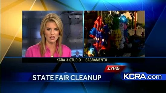 Workers keep busy cleaning up State Fair