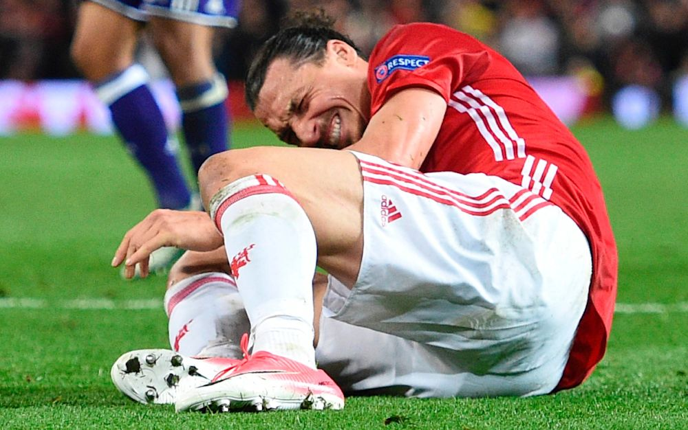 Zlatan Ibrahimovic's entire playing future has been plunged into doubt - AFP