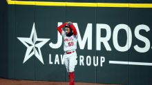 Jo Adell, just like Jose Canseco's blunder, has home run ball bounce off him and over wall