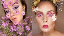 Essas maquiagens de flores são perfeitas para quem ama a primavera