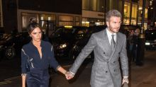 David Beckham gives affectionate shout out to wife Victoria at London Fashion Week bash