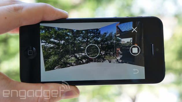 Google's panoramic Photo Sphere Camera app reaches the iPhone