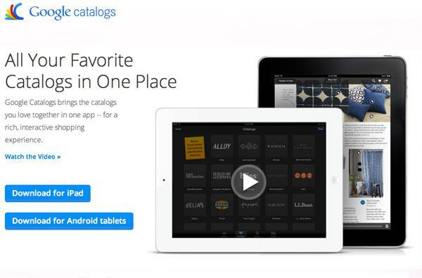 Google catalogs brings all of your holiday perusing to your Android tablet