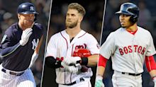 Fantasy Baseball Face-Off: Mookie Betts, Bryce Harper or Giancarlo Stanton?