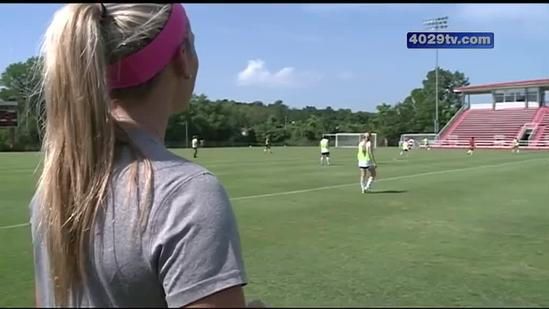 UA soccer team stays safe in the hot weather