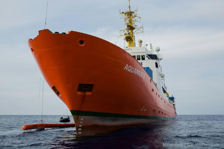 After nearly three years of operations in which it rescued some 30,000 migrants, the Aquarius was forced to cease operations because of what the NGO said was obstruction by some European countries (AFP Photo/Maud VEITH)