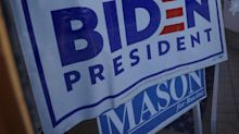 Hundreds of 'Arizona Republicans for Biden' signs have been stolen and vandalized across the state where poll shows Trump and Biden neck and neck