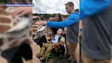 Ohio boy with seizure disorder gets wish to meet April the giraffe, calf she birthed on live stream