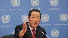 North Korea warns U.S. over seized ship at rare U.N. news conference