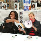 Watch Ellen DeGeneres pester Michelle Obama during her book signing