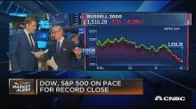 Dow, S&P on pace for record close