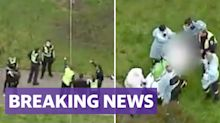 Man attacking woman in Melbourne park shot dead by police
