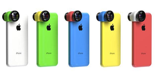 Olloclip colorea su lente para el iPhone 5C