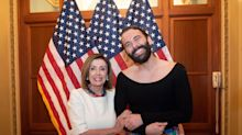 Jonathan Van Ness Just Hung Out With Nancy Pelosi And They've Got A Plan