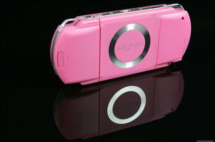 A closer look at the pink PSP
