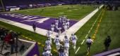 Titans players take the field against the Minnesota Vikings. (Getty Images)