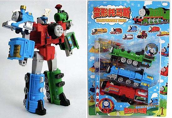 Thomas, die kleine Lokomotive, als Transformer-Bot gesichtet