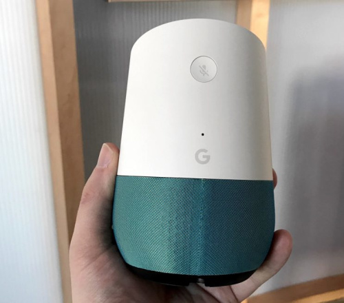 The Google Home's design.