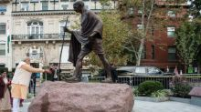 Mahatma Gandhi's Statue Outside Indian Embassy in Washington Desecrated During George Floyd Protests