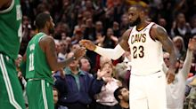 LeBron closes strong, Kyrie comes up short as Cavs top Celtics in season opener