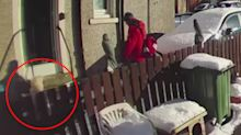 Postal worker's 'disgusting' act after finding elderly woman lying in snow