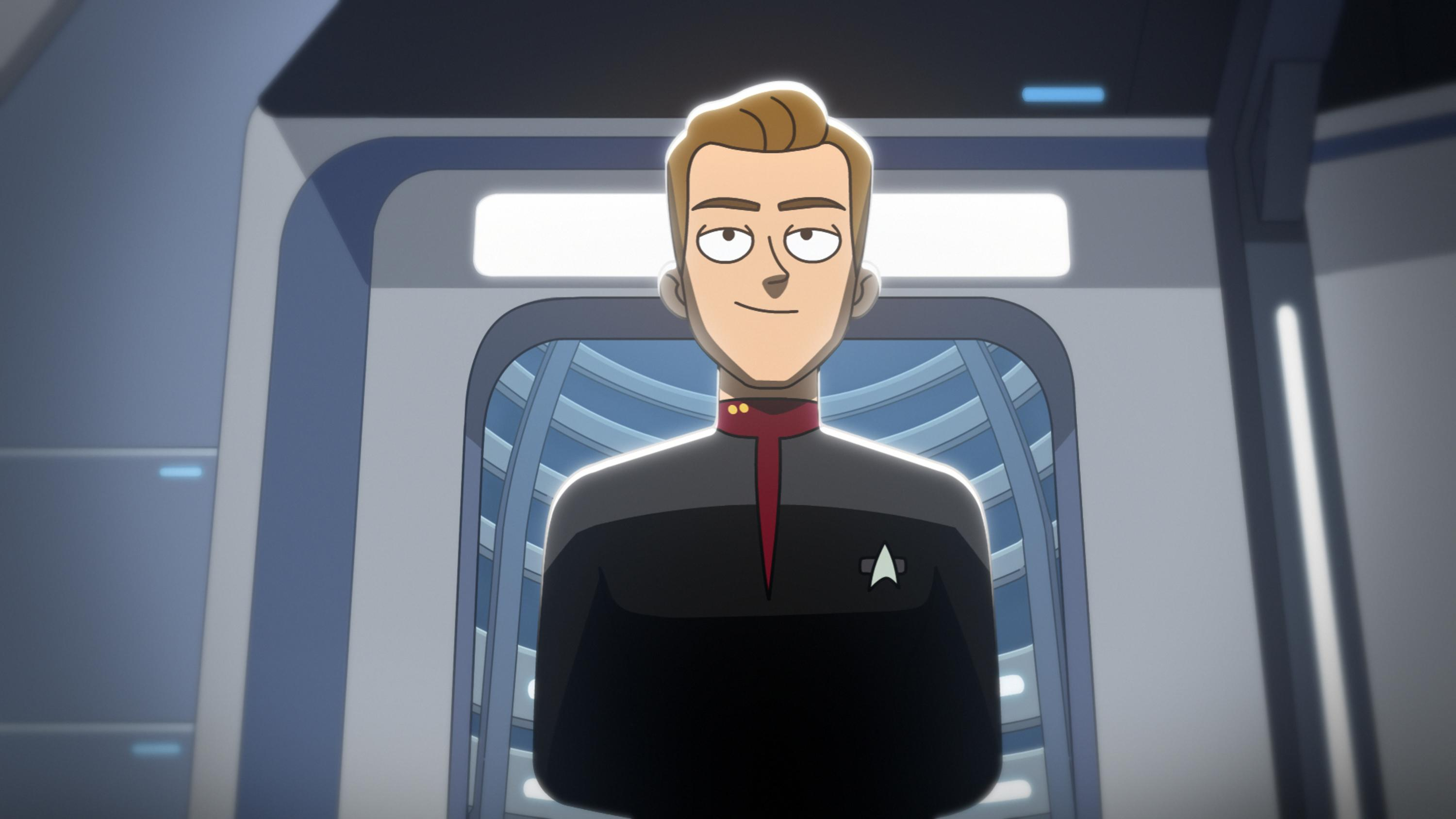"""""""We'll Always Have Tom Paris"""" -- Robert Duncan McNeill as Tom Paris of the Paramount+ series STAR TREK: LOWER DECKS. Photo: PARAMOUNT+ ©2021 CBS Interactive, Inc. All Rights Reserved **Best Possible Screen Grab**"""