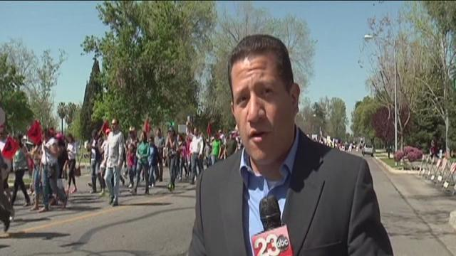 Many People March In Central Bakersfield For A New Immigration Process