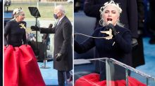 Lady Gaga dons 'Hunger Games' ballgown at Biden's inauguration