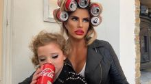 Katie Price sparks debate with six-year-old daughter Bunny's make-up