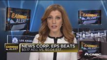 News Corp beats earnings, misses revenue expectations