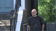 Dominic Cummings doorstepped outside London home