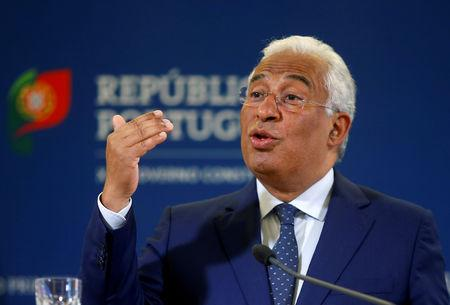 FILE PHOTO: Portugal's Prime Minister Antonio Costa addresses the nation from Sao Bento Palace in Lisbon