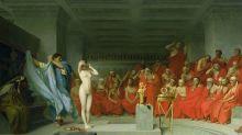 El dramático juicio de Friné, la cortesana de la Antigua Grecia que se desnudó para salvar su vida