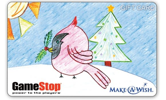 12-year-old Make-A-Wisher designs GameStop's holiday gift card