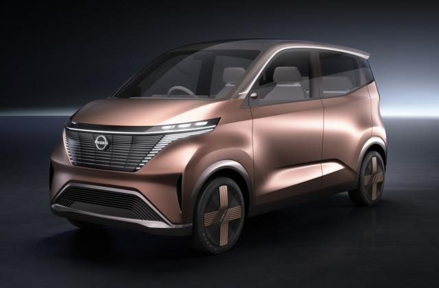 Nissan's IMk concept is a chic, boxy and electrified 'Kei' car