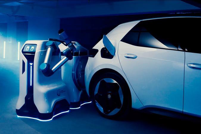 VW mobile EV charging robot prototype