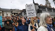 In pictures: Thousands of anti-lockdown protesters gather in London
