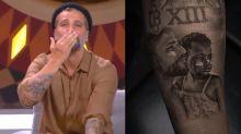 Bruno Gagliasso exibe tatuagem de Titi na TV após ciúme da filha