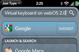 Software keyboard pops up in webOS 2.0, dreams of a Palm slate phone flourish