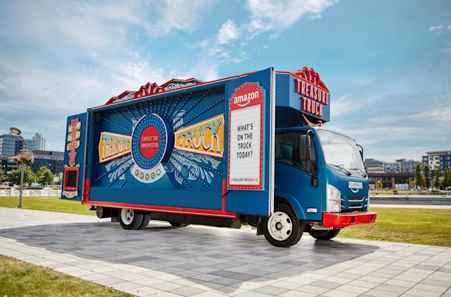 Amazon's Treasure Truck of deals is going on tour