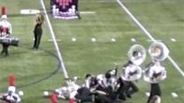 Raw: Marching Misstep Ends With Tuba Pileup
