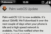 webOS 1.3.1 trickles out to European Pres