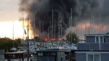 Hoo Marina fire: Huge blaze breaks out after explosion at industrial building in Kent