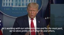 Donald Trump ponders Dr. Fauci's pandemic popularity