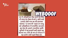 No, Burning of Cow Dung and Desi Ghee Can't Produce Oxygen at Home