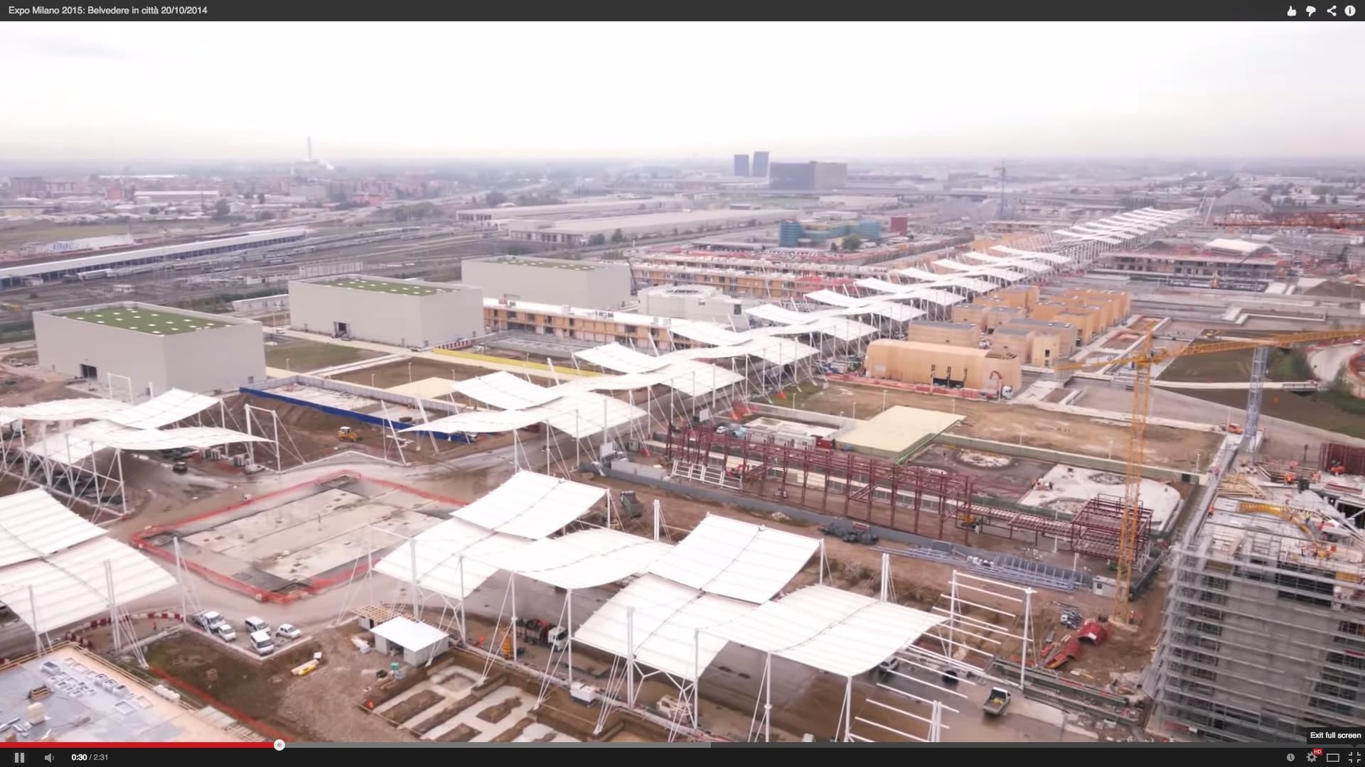 Milan Expo 2015 construction filmed by drones