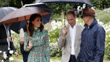 The Duke and Duchess of Cambridge pay tribute to Princess Diana with garden visit