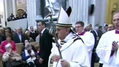 Raw: Francis Installed, Honors John Paul II