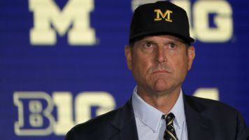 Harbaugh not holding back words at media days